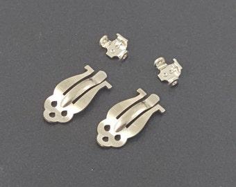 Nickel Clip On Earring Blanks, earring components, jewelry findings,earring clips, mgsupply, earring findings, clipon earrings, clip on base