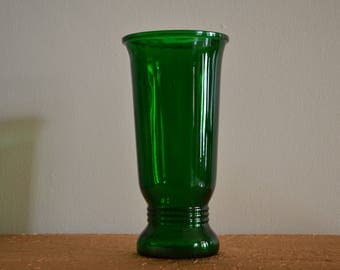 Vintage Emerald Green Vase, Made by Napco