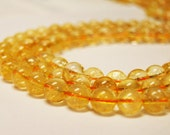 "Gorgeous Natural Citrine Gemstone Smooth Round Loose Beads Size 6mm/7mm/8mm/10mm/12mm 15.5"" Per Strand.R-S-CIT-0104"
