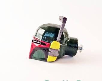 Boba Fett Furniture Pull Knob | Star Wars Bathroom Drawer Pull | Geek Gamer Home Decor | Unique StarWars Cabinet Knobs & Drawer Pulls