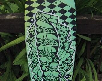ZESPI // Custom Painted Skateboard