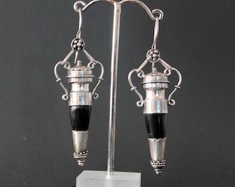 Etruscan Onyx Earrings