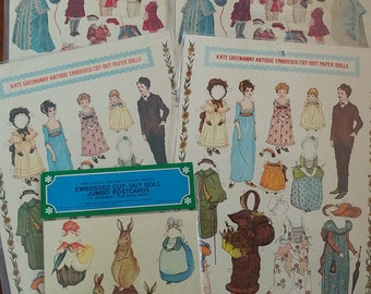 Vintage Paper Dolls Embossed Cut-Out Antique Reproductions | Kate Greenaway