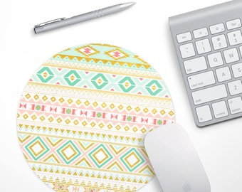 Gold Mouse pad, Tribal Mousepad, Aztec Gold Computer Mouse Pad, Gold Pattern Mouse pad, Desk Mouse Pad, Girly Mouse Pad, Desk Accessories