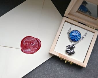 Mother of dragons Game of Thrones gift for her Daenerys necklace Dragon egg layered necklace Jewels of thrones Stainless steel necklace