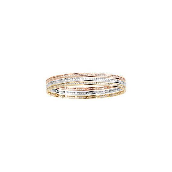 Channel Set Diamond Stacking Bangle Bracelet 2 25 Carat