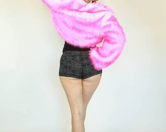 Custom Faux Fur REVERSIBLE Bolero Jacket by Sublime Designs--Choose Fur & Liner!