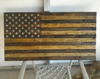 Wooden American Flag Wall Hanging american flag pallet | etsy