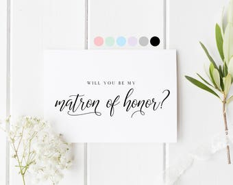 Will You Be My Matron Of Honor, Card For Matron Of Honor, Matron Of Honor Proposal Card, Matron Of Honor Request Card, Be My Matron Of Honor