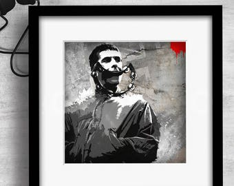 Print / Liam Gallagher / Oasis / Art / Music / Graphic design / Design / Prints / Contemporary / Wall art / Cool / Icons / Gift