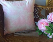 Pink Toile Pillow Cover 18X18 Gingham Back Pillow Decor Feminine Girls Shabby Chic Romantic French Country Farmhouse Cottage Style Decor
