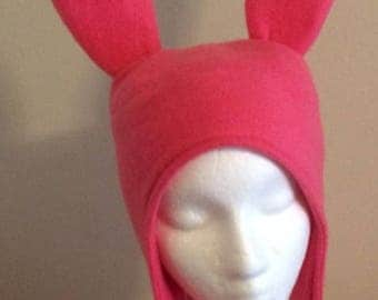 Pink Bunny Ears hat - Five Sizes: XS, S, M, Lge & X Lge