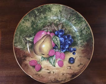 """Limoges - Rochard - Heritage -  Still Life -  10"""" plate  - Pear and Peach"""