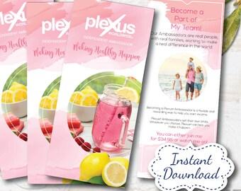 plexus product brochure - instant download, digital file