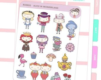 Alice In Wonderland Inspired Stickers / Planner Stickers