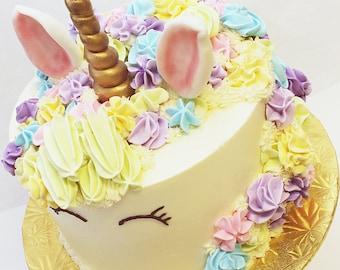 Unicorn Horn Cake Topper Set