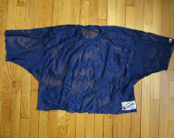 Vintage Champion Mesh Football Jersey Size XL Made In USA Blue Pinney Pinny RARE