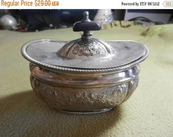 Summer Sale Vintage Silver Plated Sugar Container for Marshall Fields