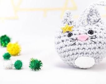 Crochet cat decoration, Christmas decor, tree decor, Christmas decoration, cat decoration