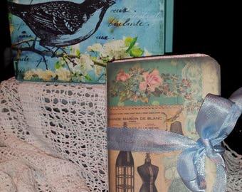 """Vintage Journal inside a """"Bird"""" box"""