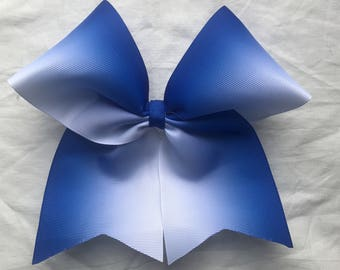 Royal Blue Ombre Bows/Ombre Cheer Bows/Ombre Softball Bows