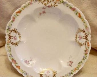 "Limoges 10"" Clam/Oyster Plate S. Ahrenfeldt France Depose"