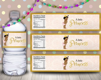 Royal Princess Baby Shower, Little Princess Baby Shower, Royal Princess Baby Shower Decor, Little Princess Water Bottle Labels, Baby Girl