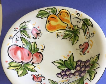 """Sweet orchard tabletops unlimited 7"""" cereal bowl with fruit."""