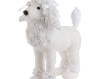 "SALE!!! Raz Imports 17.5"" White Poodle/Wreath Supplies/Dog Decor/Animal Decoration/3252300"