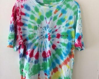 LIMITED tie dye 'homophobia is gay' tshirt