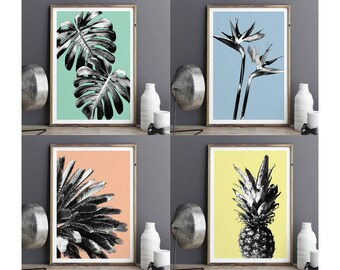 Botanical Prints, BOTANICAL PRINT SET of 4, Botanical Art, Botanical Decor, Botanical Wall Art, Kitchen Wall Art, Wall Art Print, Art Prints