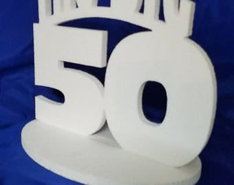 The BIG 50 centerpiece 50th birthday table decoration 50th Anniversary centerpiece for parties