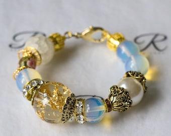 Gold Flakes Chunky Bracelet (0297)