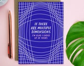 Multiple Dimensions Valentines Card - anniversary card - illustrated card - funny valentines card - science valentines card