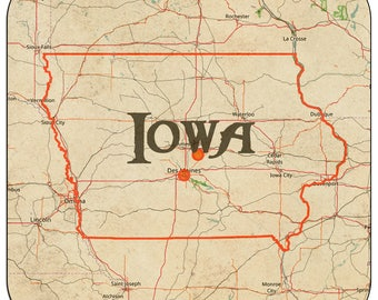 Iowa Coasters & Other Merchandise