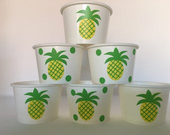 Pineapple Party Favor Snack Cups