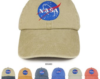 Youth NASA Insignia Embroidered Soft Washed Cotton Twill Cap (7601Y-INSIGNIA)