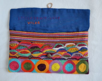 Hand Embroidered Purse, Malagasy Design
