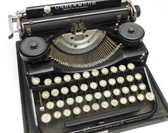 1920s Underwood Typewriter Machine Portable Standard Excellent WORKS!