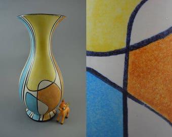 Rare vintage vase made by Bay / 534 32 / Decor Haiti / Bodo Mans | West German Pottery | 50s