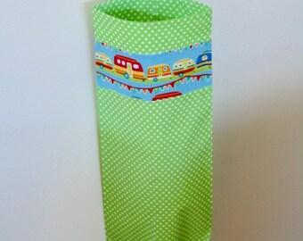 Vintage caravan plastic bag holder. Handmade.