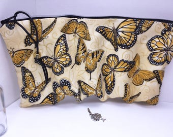 Butterflies Essential Oil Case, Doterra Oil Pouch, Essential Oil Case, Oil Storage Travel Bag, Free Charm, Essential Oil Purse