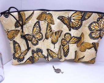 Butterflies Essential Oil Case, Doterra Oil Pouch, Essential Oil Case, Oil Storage Travel Bag, Free Charm, Essential Oil Purse