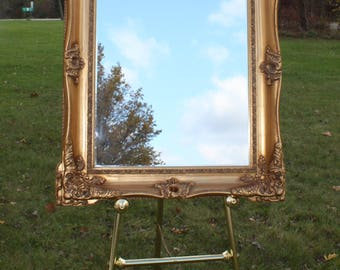 Large Floor Easel Standing Display Holder Wedding Signs Decor Lobby Business Big Brass Gold Frames Mirrors