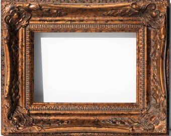 large gold ornate frames picture frames baroque wedding frame rococo wood open frame photo frames wedding - Etsy Frames