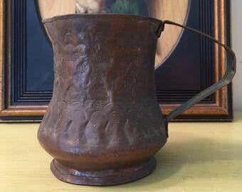 Tinned Copper Pitcher/Handmade