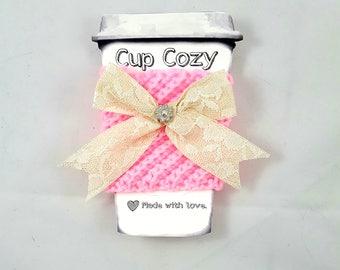 Cup Cozy, Coffee Cup Cozy, Crochet Cup Cozy, Coffee Sleeve, Cup Sleeve, Coffee Cup Sleeve, Mug Cozy, Crochet Coffee Cozy, Cozy, Bow Cozy