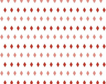 SALE!! 1 Yard Five and Dime by Heidi Staples of Fabric Mutt for Riley Blake Designs- 6375 Red