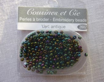 Beads embroidery cousins and green antique 2602 companies