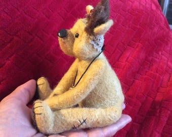 Miniature needle felted artist OOAK bear